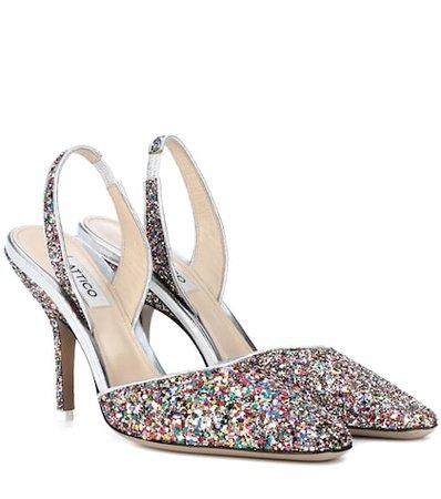 Mara slingback glitter pumps