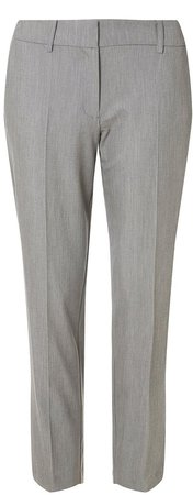 Grey Tailored Ankle Grazer Trousers