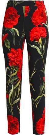 Floral-print Crepe Skinny Pants