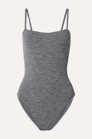 Les Essentiels Aquarelle Melange Swimsuit - Dark gray