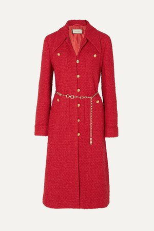 Red Belted tweed coat | Gucci | NET-A-PORTER