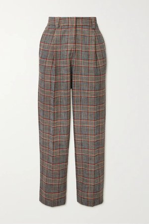5 SEE BY CHLOÉ Checked tweed tapered pants