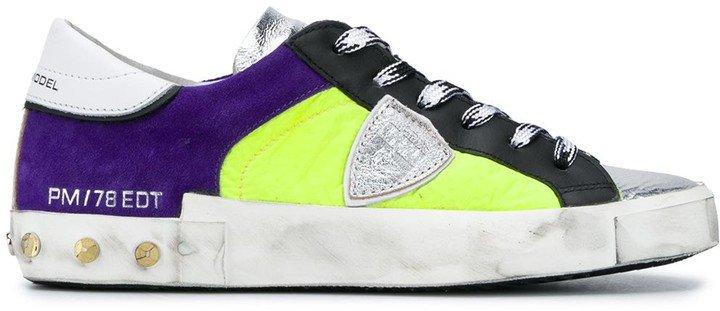 Philippe Model Paris Colour Block Studded Sneakers