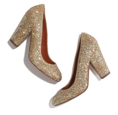 metallic gold shimmery heels
