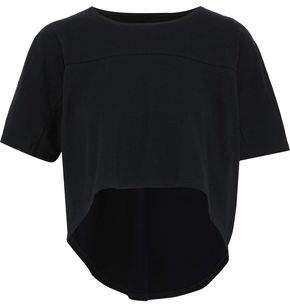 Draped Cotton-jersey T-shirt