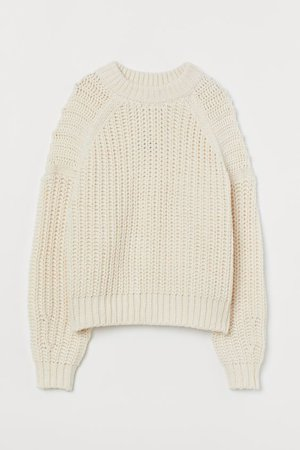 Knit Sweater - Cream - Ladies | H&M US