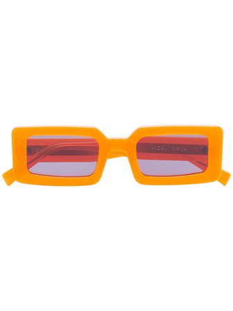 Chimi Neon Hazard Rectangular Sunglasses | Farfetch.com