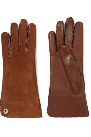 Loro Piana | Leather and suede gloves | NET-A-PORTER.COM