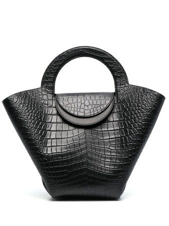 Bottega Veneta crocodile-embossed Basket Tote Bag - Farfetch