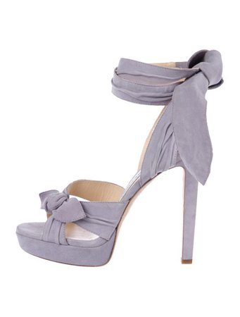 Jimmy Choo Suede Ankle Strap Sandals - Shoes - JIM95387   The RealReal