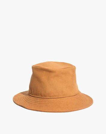 Short-Brimmed Canvas Bucket Hat