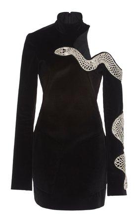 Embroidered Cotton Mini Dress by David Koma | Moda Operandi