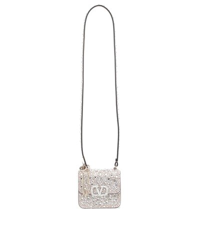 Valentino Garavani Vsling Micro Embellished Leather Shoulder Bag - Valentino | Mytheresa