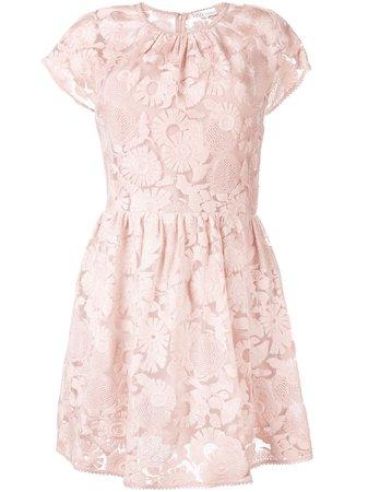 Redvalentino Floral Lace Mini Dress RR3VA01JPSB Pink | Farfetch