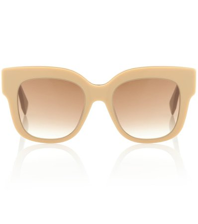 Fendi - Square acetate sunglasses | Mytheresa