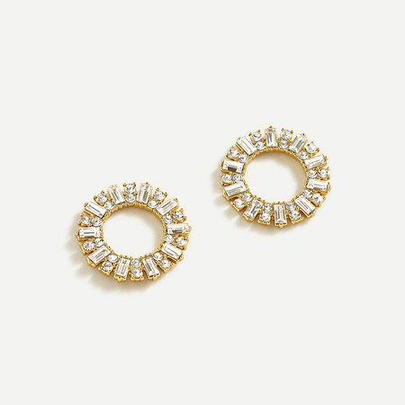 J.Crew: Pavé Circle Stud Earrings