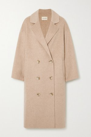 Borneo Double-breasted Wool And Cashmere-blend Coat - Beige