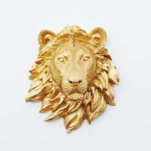 gold lion emblem