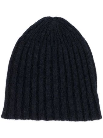 Roberto Collina Ribbed Knit Beanie RB18151 Blue | Farfetch