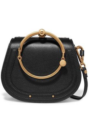 Chloé | Nile Bracelet small textured-leather and suede shoulder bag | NET-A-PORTER.COM