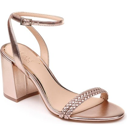 Jewel Badgley Mischka Suri Block Heel Sandal (Women) | Nordstrom