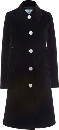 Single Breasted Velvet Coat