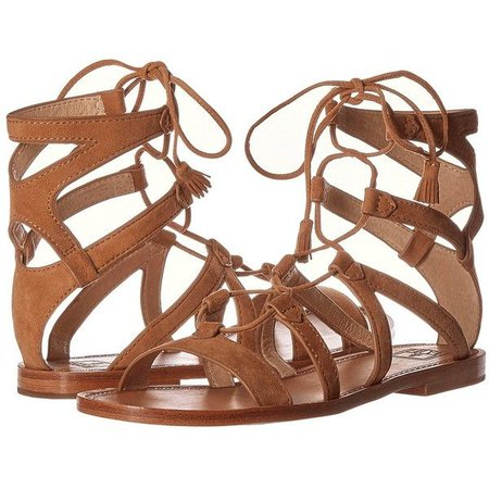 Brown Tie Up Gladiator Sandals