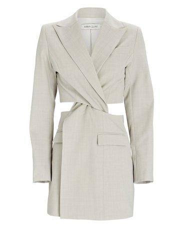 Anna Quan Chiara Twist Cut-Out Blazer Dress   INTERMIX®