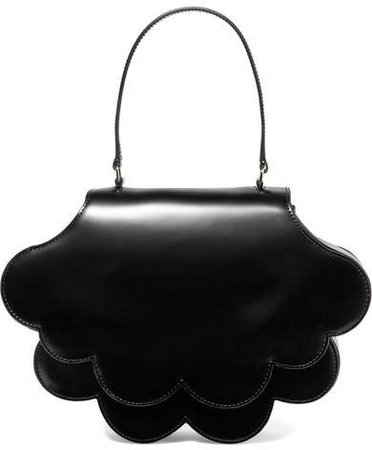 Flower Bean Glossed-leather Tote - Black