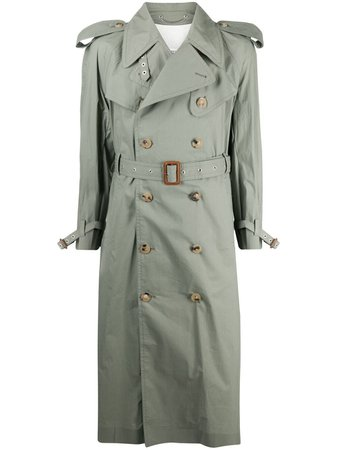Maison Margiela, double-breasted belted trench coat