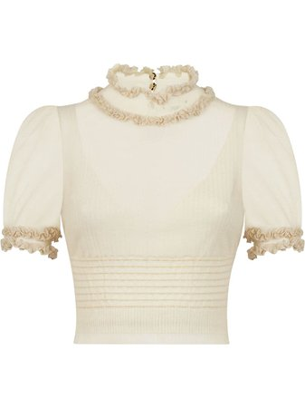 Fendi ruffle neck blouse with Express Delivery - Farfetch