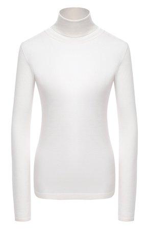 Женская белая водолазка из смеси кашемира и шелка BRUNELLO CUCINELLI — купить за 76400 руб. в интернет-магазине ЦУМ, арт. M13800063P