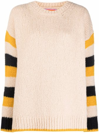 La Doublej Striped Knitted Jumper - Farfetch