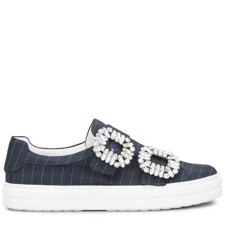 Sneakers Souliers Sneaky Viv' Double Strass Buckle RVW40319991JFGU801   Store Roger Vivier
