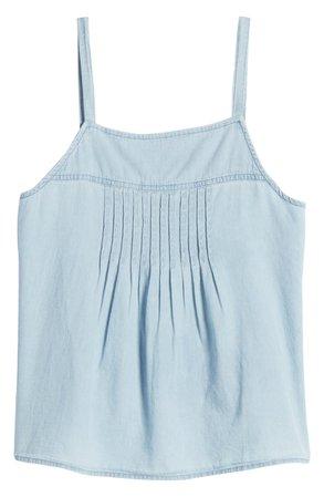 Caslon® Pintuck Cotton Camisole