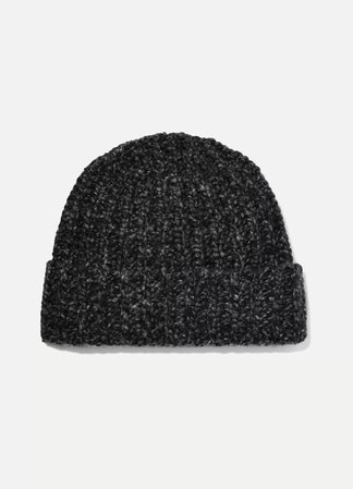 Charcoal + NET SUSTAIN Donegal ribbed cashmere beanie | Johnstons of Elgin | NET-A-PORTER