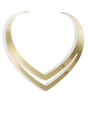 Sterling Forever Double V Torque Necklace | Nordstrom