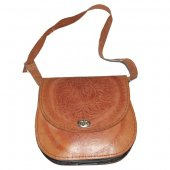 welcome to Forty Five! - 70's vintage tooled leather horse print bag. - Vintage boutique / vintage bags
