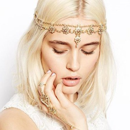 Amazon.com: JoJo&Lin Simulated Pearl Beaded Hairband Headband Head Chain Hair Jewelry Wedding Hair Accessories Antique Game of Throne Inspired valentines day gifts for her: Gateway