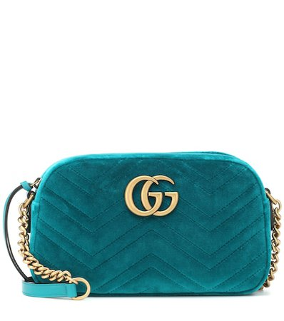 GG Marmont velvet shoulder bag