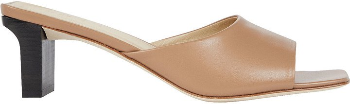 Katti Leather Slide Sandals