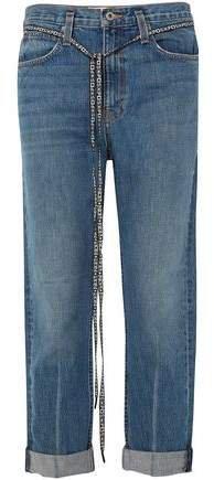 Pswl Canvas-trimmed Boyfriend Jeans