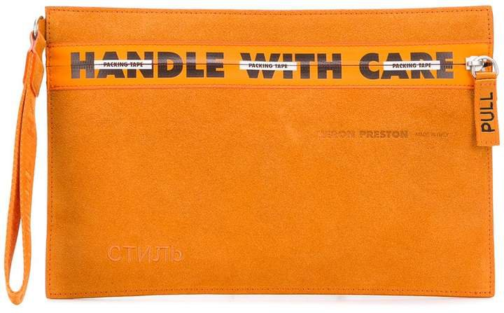 Heron Preston Handle With Care clutch