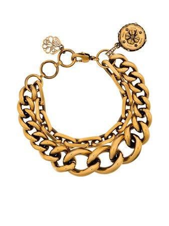 Alexander McQueen double-chain bracelet