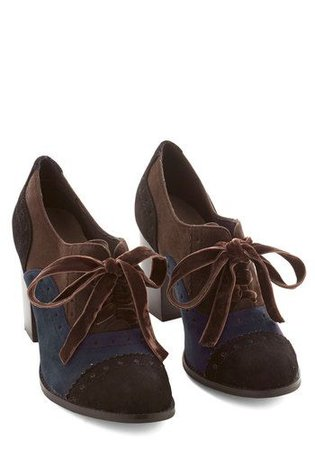 blue brown shoes