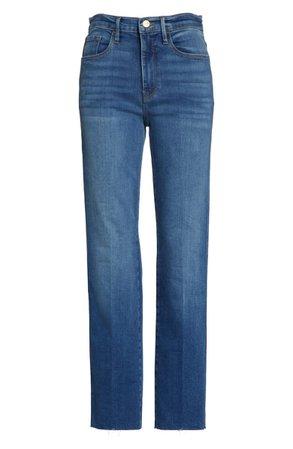 FRAME Le Sylvie Slender Straight Leg Jeans (Poe Avenue) | Nordstrom