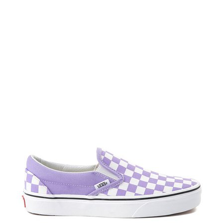Vans Slip On Checkerboard Skate Shoe - Violet Tulip | Journeys