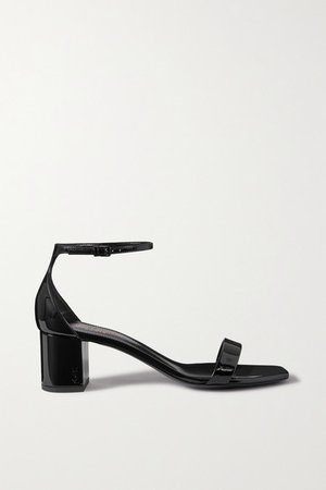 Loulou Patent-leather Sandals - Black