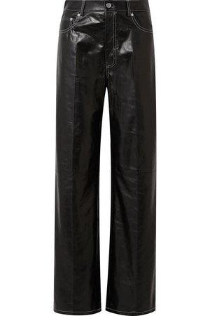 Helmut Lang   Leather wide-leg pants   NET-A-PORTER.COM