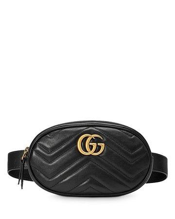 Gucci GG Marmont Matelassé Leather Belt Bag | Bloomingdale's